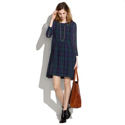 Etude Dress in Dark Plaid