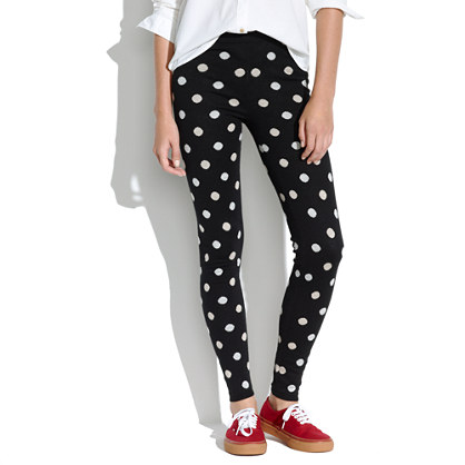 Sweater Leggings in Dot Pop
