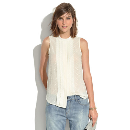 Pintuck Pleated Tank