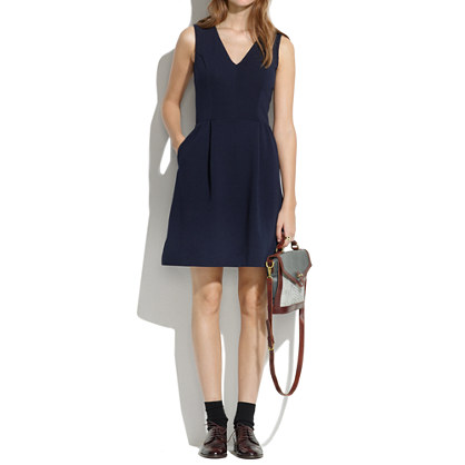 Gallerist Ponte V-Neck Dress