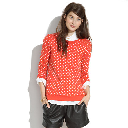 Sweatshirt in Domino Dot