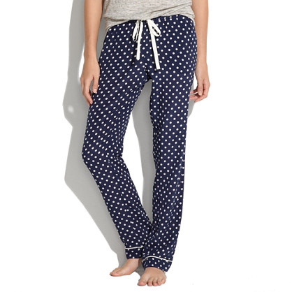 Silk Pajama Pants in Domino Dot