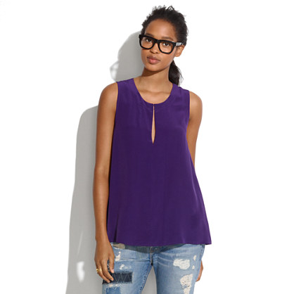 Silk Split-Neck Tank