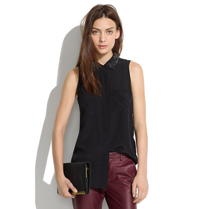 Silk Twinklelight Collar Tank