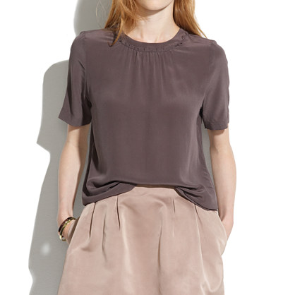 Silk Shirred Top