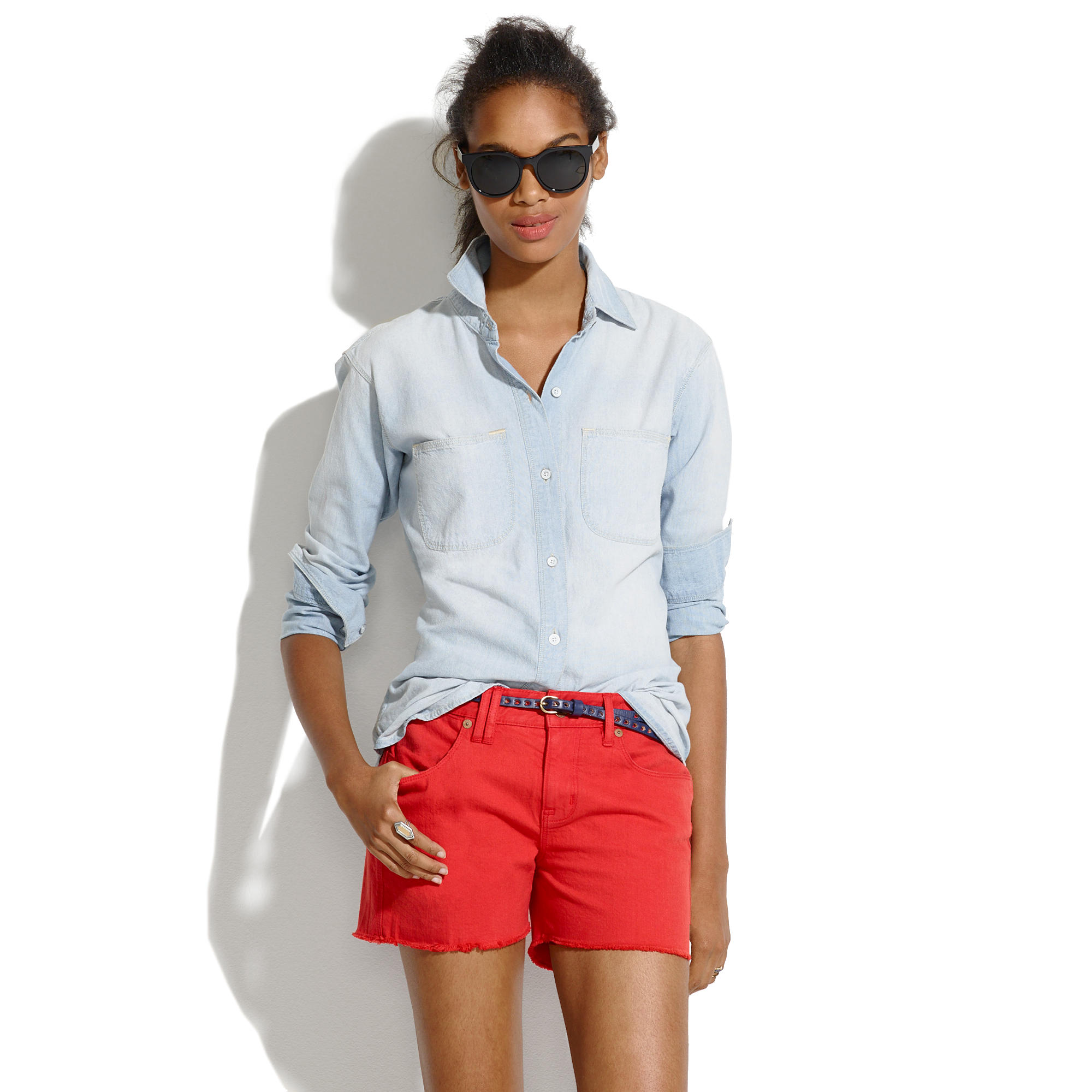 Denim Cutoff Shorts in Scarborough Red : DENIM | Madewell