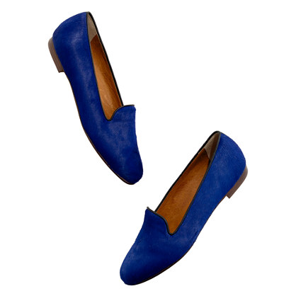 The Library Loafer in calf hair