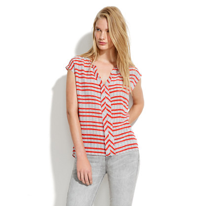 Striped Silk Doublet Top