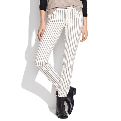 Skinny Skinny Ankle Jeans in Twin Stripe