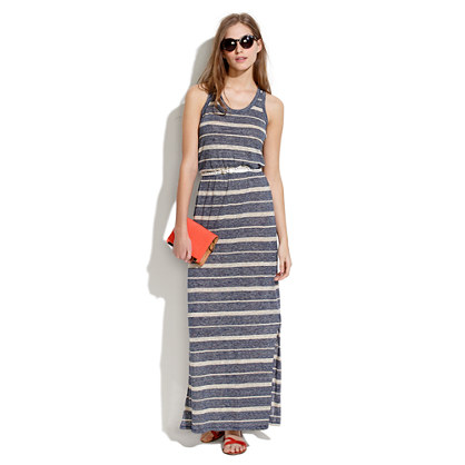 Long Tankdress in Heather Stripe