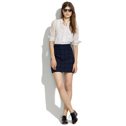 Courtyard Skirt in Gridline