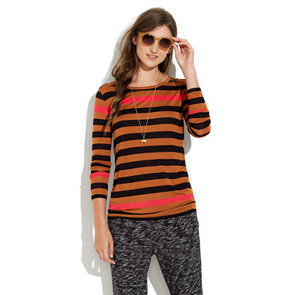 Easygoing Tee in Colorblock stripe