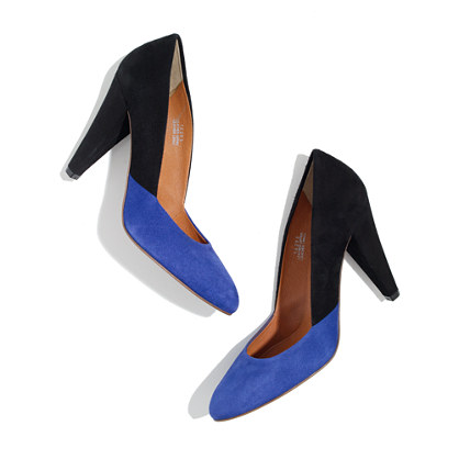 The Film Noir Pump in colorblock