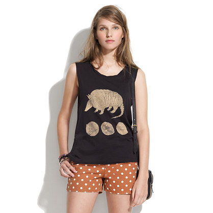 Something Else by Natalie Wood Extinction Sux Armadillo Tank