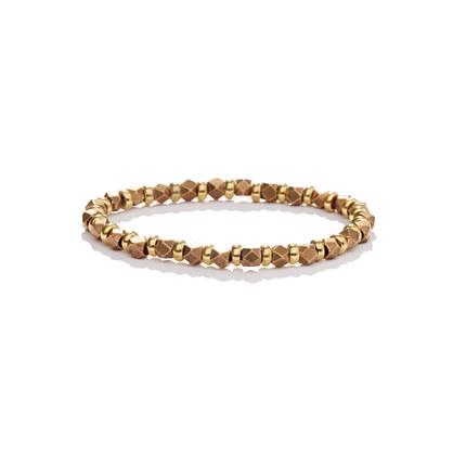 Vanessa Mooney Medium Nugget Brass Bracelet