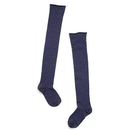 Over-The-Knee Polka-Dot 1937 Socks