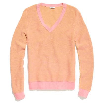 Shrunken V-Neck Sweater