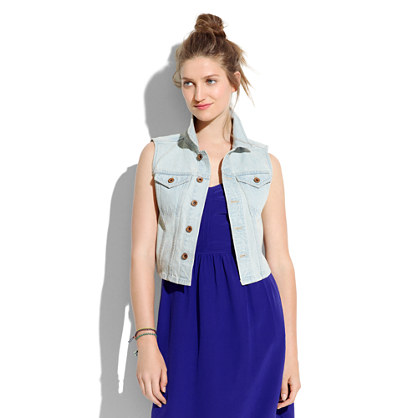 Longroad Denim Vest in Sawmill Wash