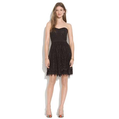 Strapless Lace Dress