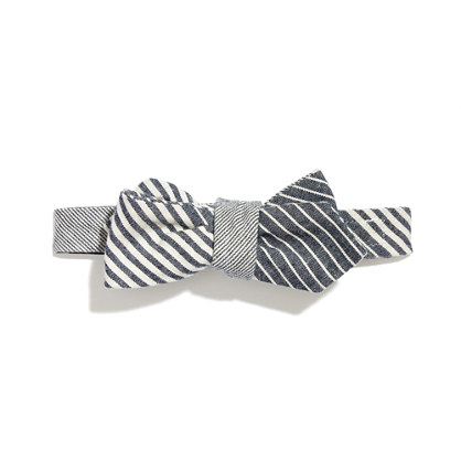 The Hill-side® Striped Chambray Bow Tie