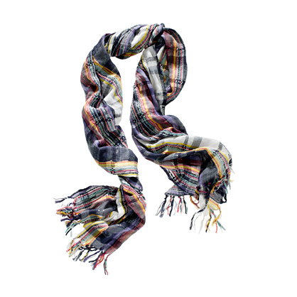 Electric Plaid Scarf