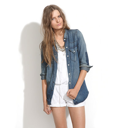 Dustbowl Denim Shirt in prairie wash