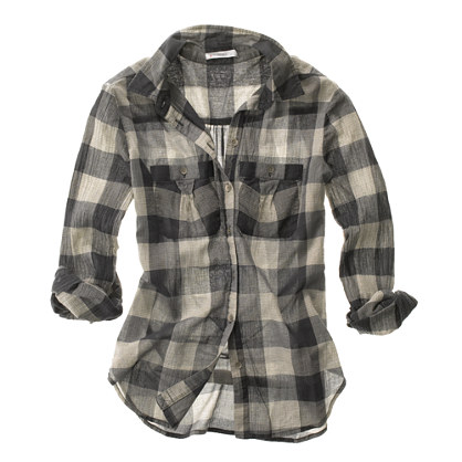 Sheer Plaid Boyshirt