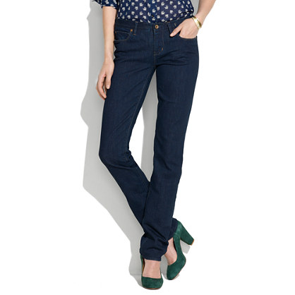 Rail Straight Jeans in Madewell Wash