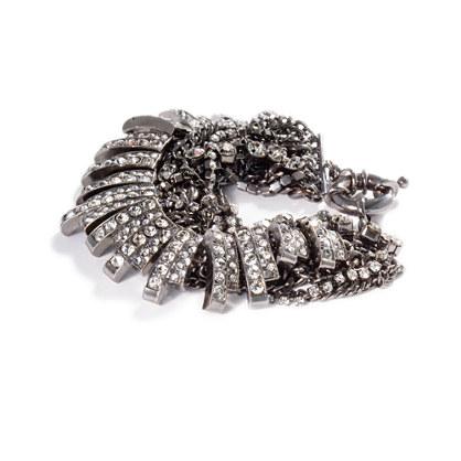 Twisted Metal & Crystals Bracelet