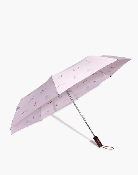 Rainy-Day Umbrella in wisteria dove image 1