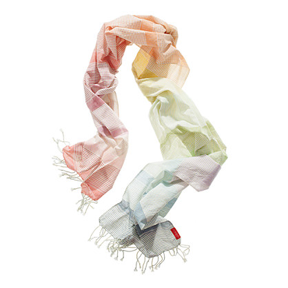 Wanderlust Buffalo-Check Fringed Scarf