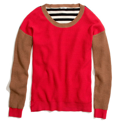Thermal Sweater in Colorblock Stripe