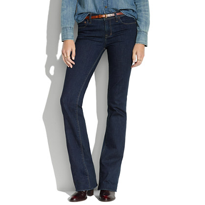 Bootlegger Jeans in Madewell Wash