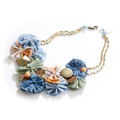 Lizzie Fortunato Jewels for Madewell Denim Bouquet Necklace