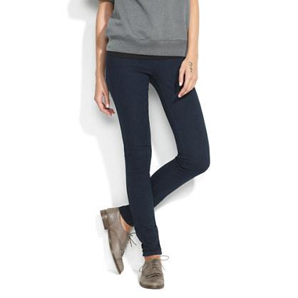 Back-Zip Legging Jeans in Chasm Wash