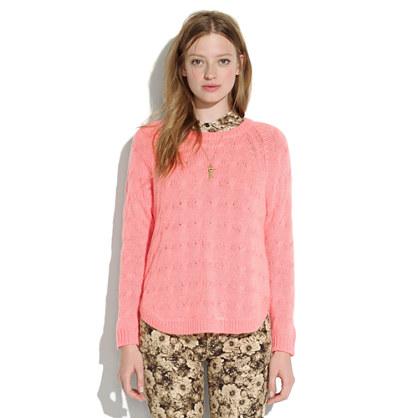 Cutaway Cableknit Sweater