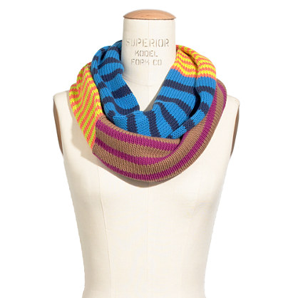Cross-Stripe Circle Scarf