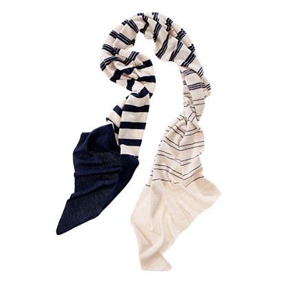 Stripey Knit Scarf