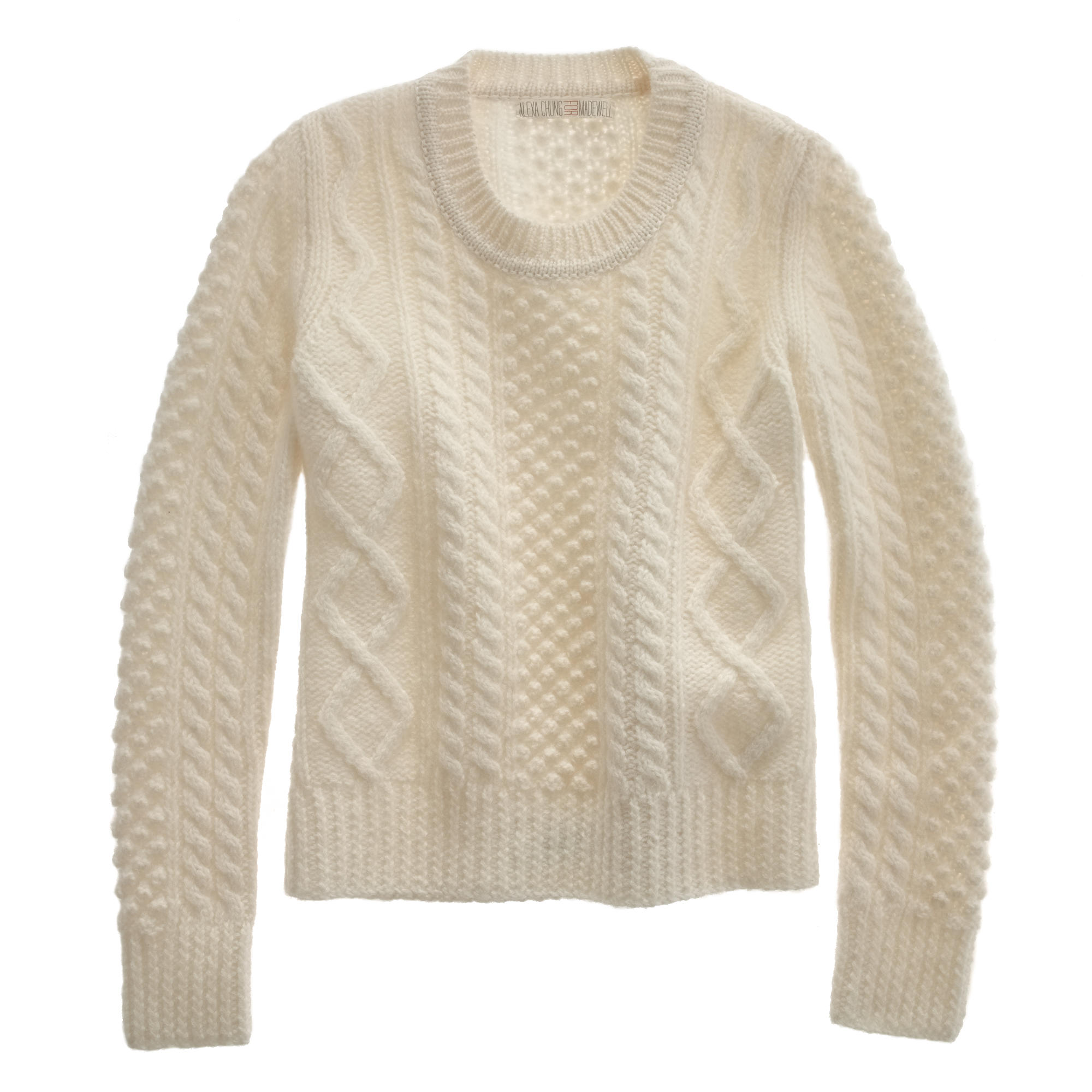 Alexa Chung for Madewell Aimee Fisherman-Knit Sweater ...