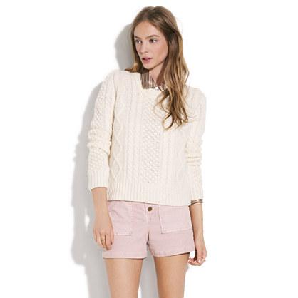 Alexa Chung for Madewell Aimee Fisherman-Knit Sweater