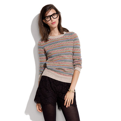 Fair Isle Sweater : sale | Madewell