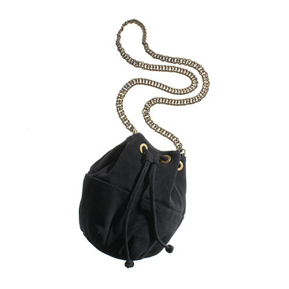 The Cinched Suede Bucket Bag
