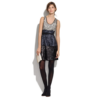 Colorblock Sequin Dress : sale  Madewell