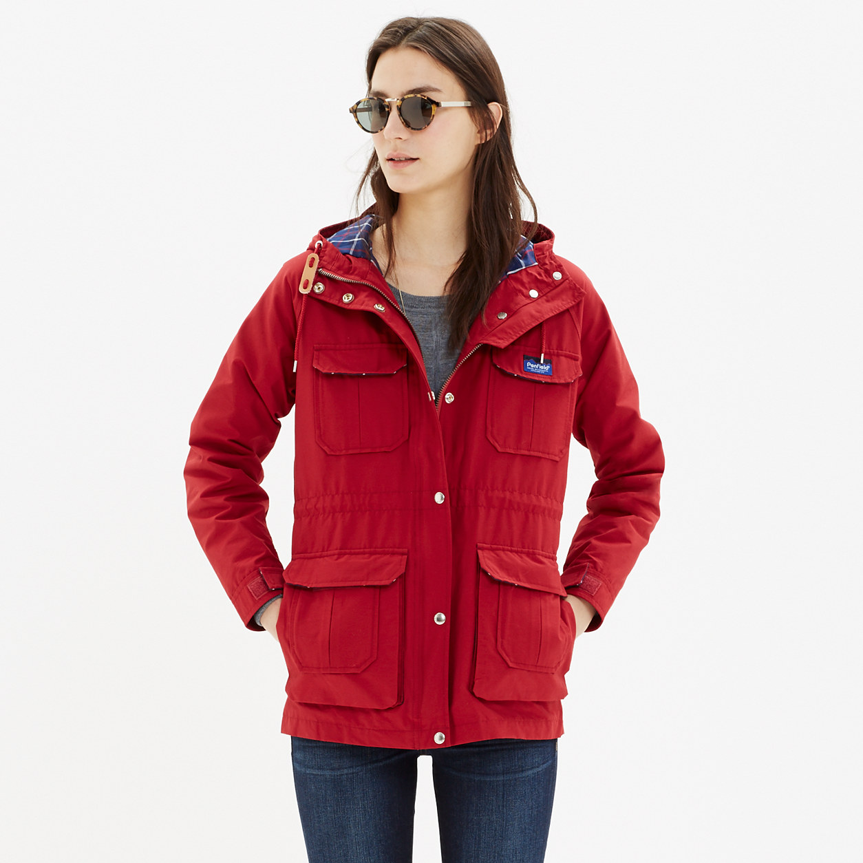 Burgundy Parka Jacket Womens