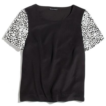 Sequin-Sleeve Top