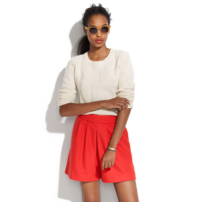 Wool bell shorts