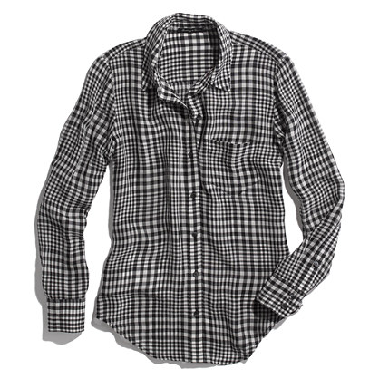 Silk Boyshirt in Checker