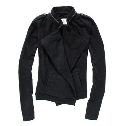 Drapey Sweatshirt Jacket
