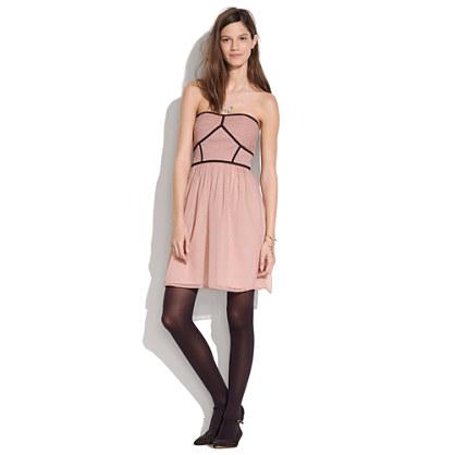 Strapless Pindot Dress