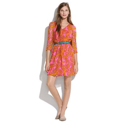 Silk Paisley Dress